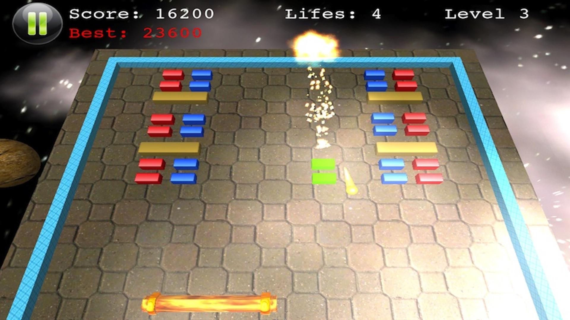 Block Smasher : 3D Fire Crush Bricks Breaker Game screenshot 1