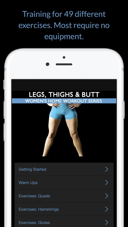 Legs, Thighs & Butt: Women's Home Workout Series screenshot-1