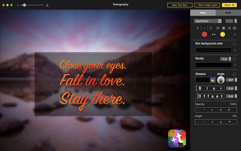 Textography: Typography + Text Fonts + Photo Effects for Photos скриншот программы 3