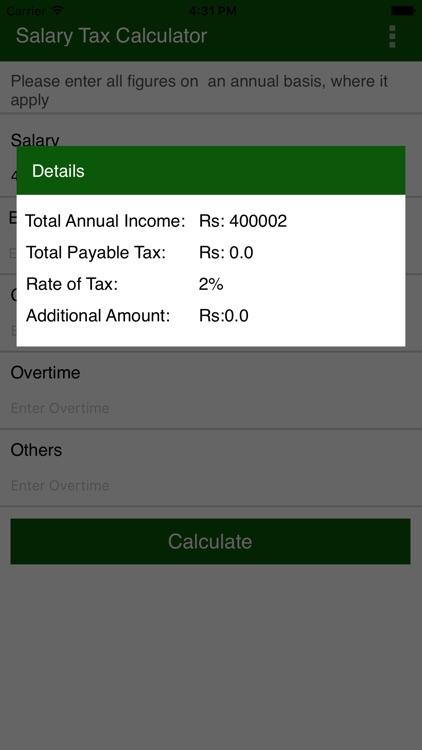 Salary Tax Calculator Pakistan