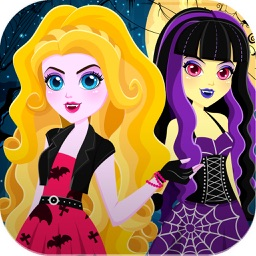 """ Descendants of Monster Girl "" Dress-up - Ever after Halloween hight party salon game"