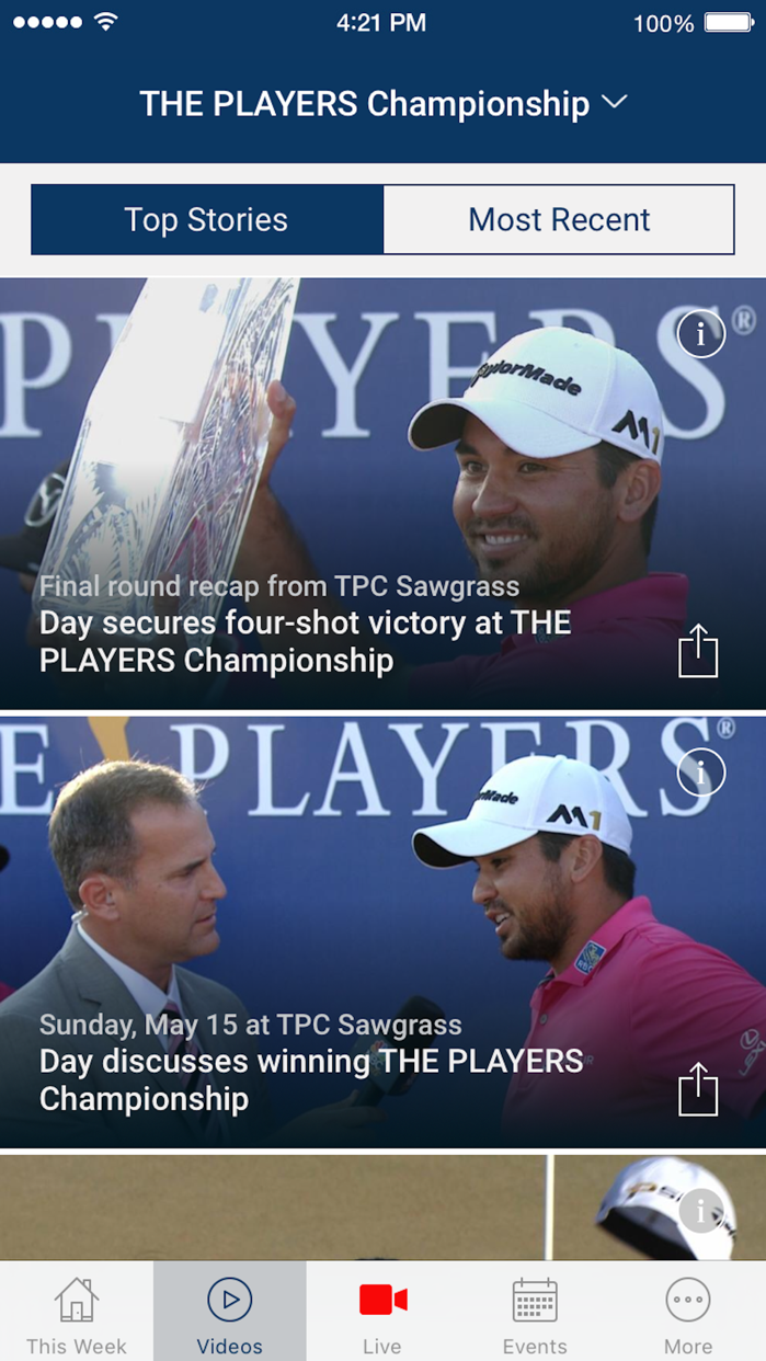 PGA TOUR LIVE Screenshot