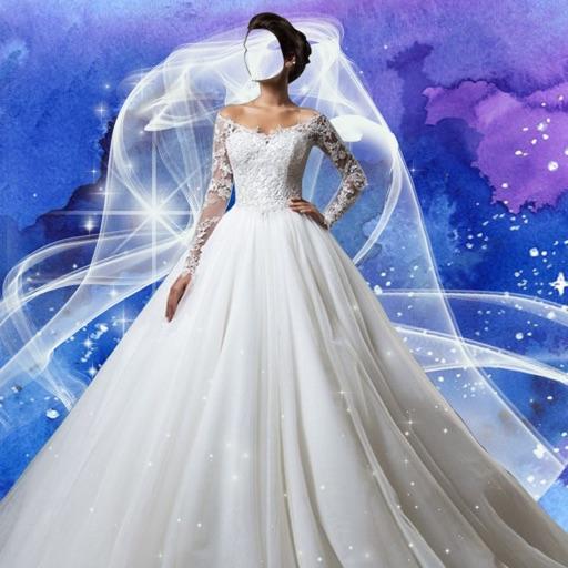 vestido de novia foto.montaje - probar traje.s de boda y crear