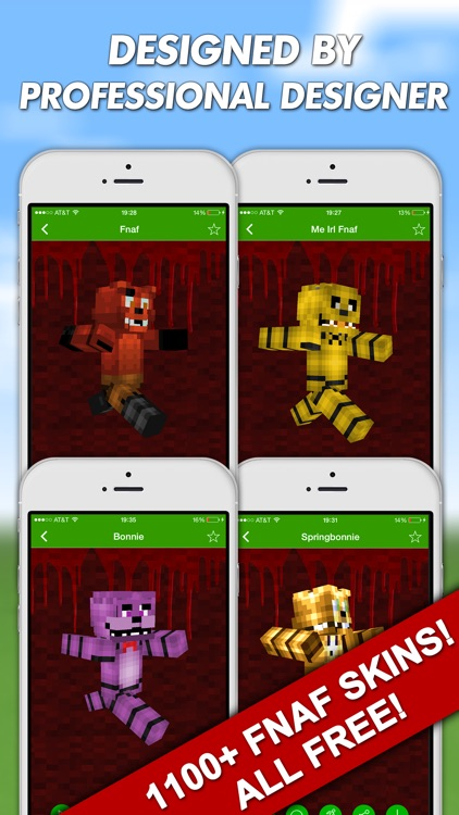 FNAF Skins For Minecraft PE (Pocket Edition) Free