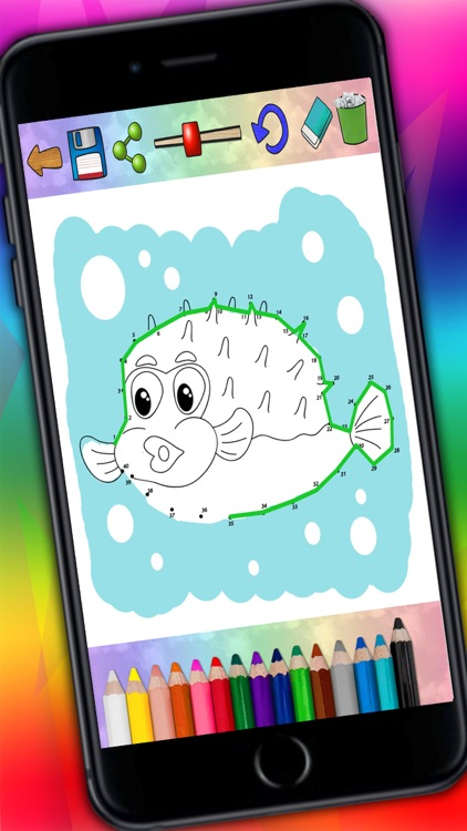 Connect dots and paint zoo animals Jungle coloring book - Premium