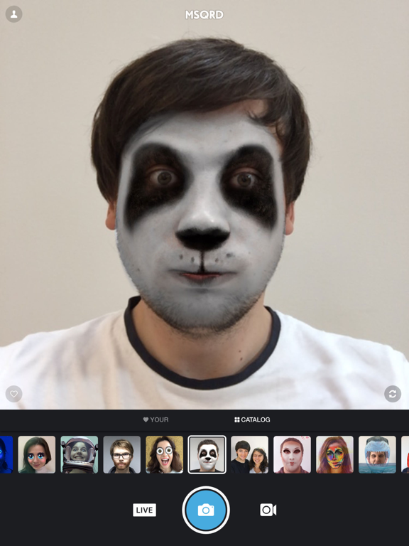 MSQRD — Live Filters & Face Swap for Video Selfies-ipad-0