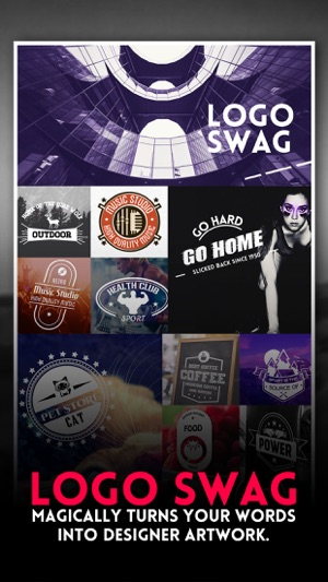 Logo Swag - Instant generator for logos, flyer, poster & invitation design Screenshot