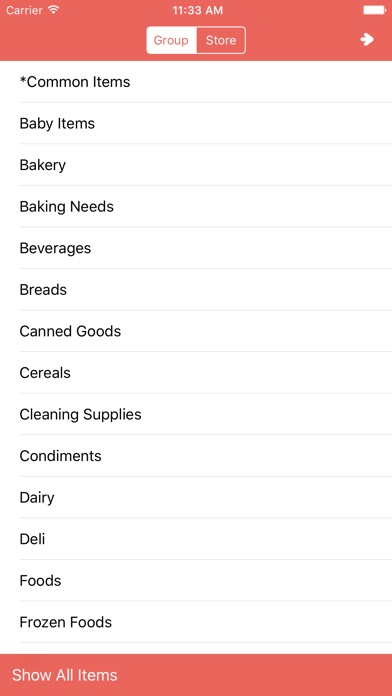 Shopping List。Simple & Quick