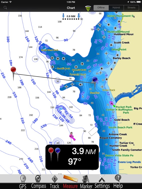 Oregon GPS Nautical Charts Pro screenshot-3