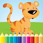Animal Coloring Book - Drawing for kid free game, Paint and color games HD for good kid icon