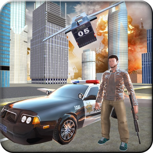 Flying Police Car Gangsters LA - All in One Prison Sniper & Flying Car helicopter