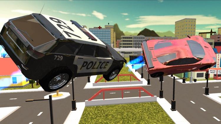 Flying Police Car Simulator 2016 screenshot-4