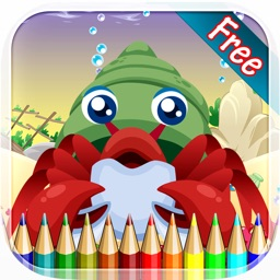 Sea Animal Coloring Book - Drawing and Painting Colorful for kids games free