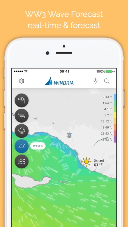 Windria - US West (NOAA high-res Wind/waves/currents forecast)