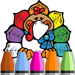 Happy Thanksgiving Greeting Coloring Book