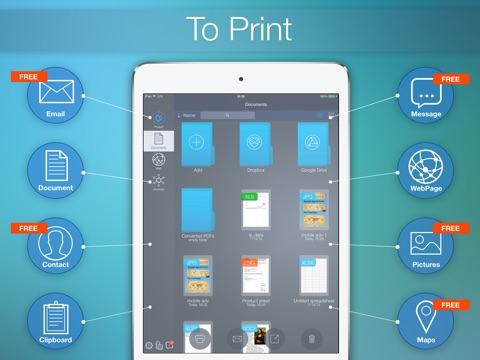 to print - for printing documents, web pages, pictures, photos