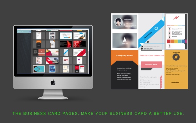 Business card templates for pages on the mac app store screenshots reheart Choice Image