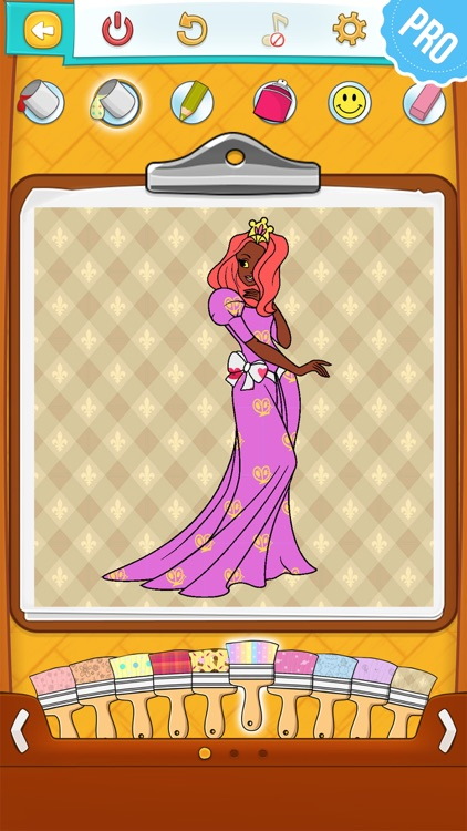 Princess Coloring Games for Kids - Colouring Book for Girls PRO screenshot-3