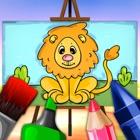 动物为孩子们着色书 - 35免费绘图页幼儿园幼儿 icon
