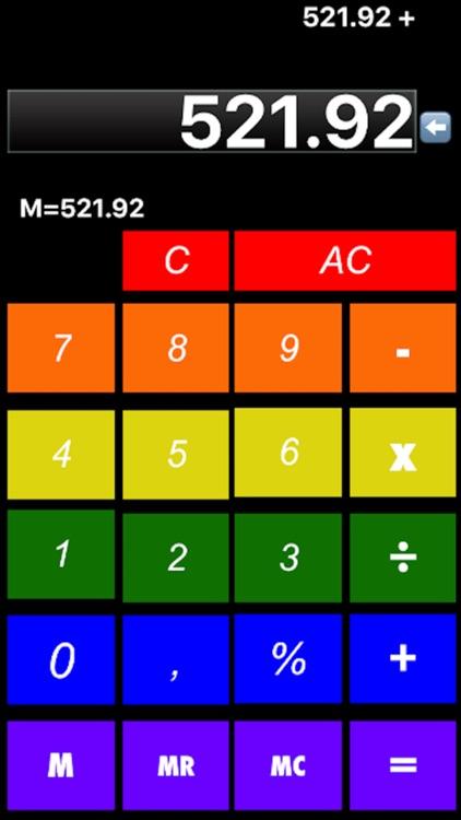 calculator rainbow