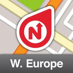 NLife Western Europe Premium - Offline GPS Navigation, Traffic & Maps