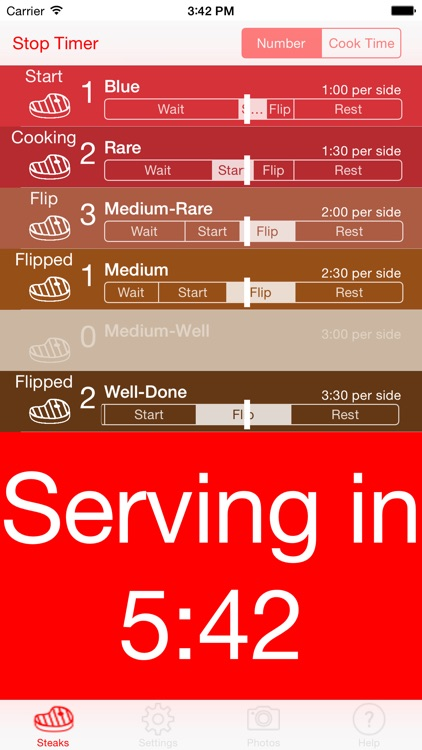 Steak Timer - Relax and cook perfect steaks! screenshot-3
