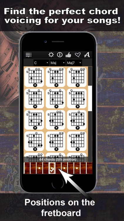 Guitar Chords Compass - learn the chord charts & play them screenshot-3