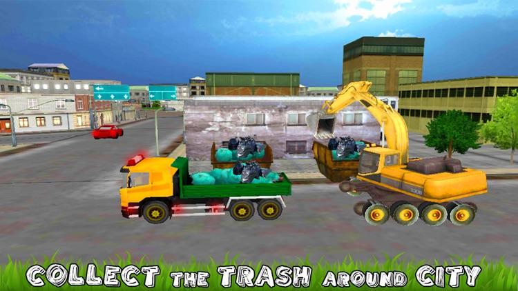 City Excavator Garbage Truck
