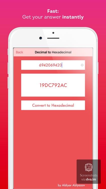 Binary to Decimal to Hexadecimal Converter