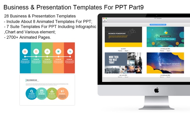 templates for ppt business presentation part9 pack9 をmac app