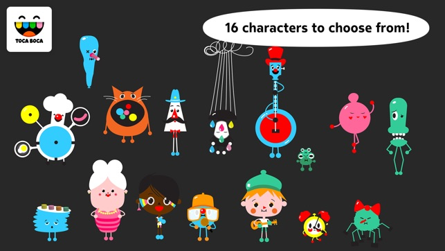 Character Design App Iphone : Toca band on the app store