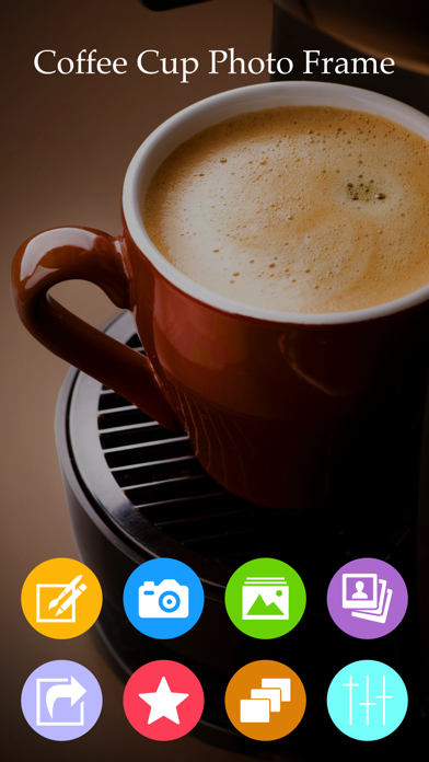 Coffee Cup Photo Frame & Photo Editor screenshot one