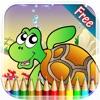 海洋动物图画书 - 所有在1海洋动物绘画七彩虹为孩子们免费游戏
