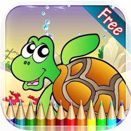 Marine Animals Coloring Book - All in 1 Sea Animals Drawing and Painting Colorful for kids games free