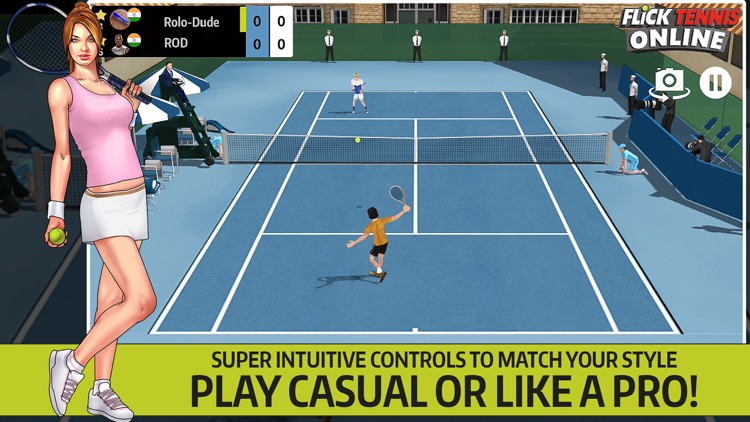 Flick Tennis Online - Play like Nadal, Federer, Djokovic in top multiplayer tournaments! screenshot-3