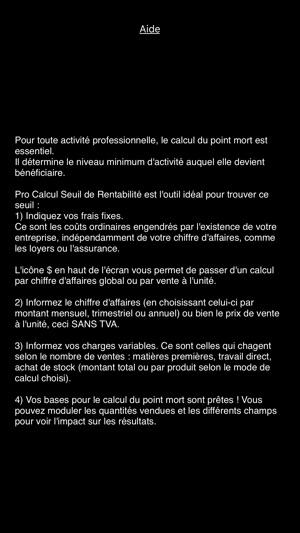Pro Calcul Seuil De Rentabilite Dans L App Store
