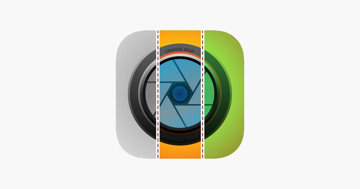 Orange Snap – One Split / Stitch Pic w/ Filters im App Store
