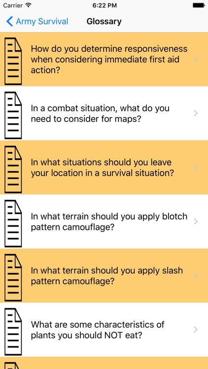 Army Survival Guide & Flashcards