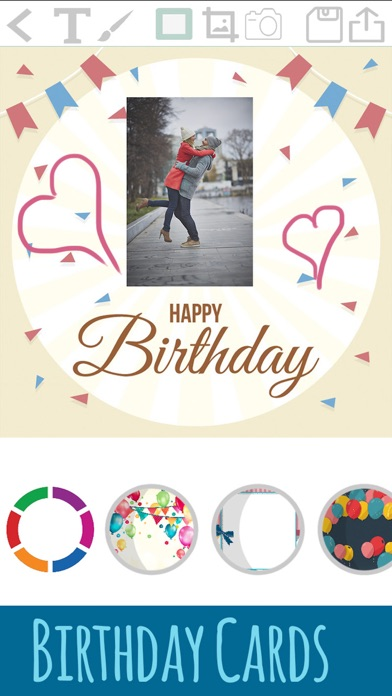 誕生日カードを作成 - お祝いの編集とデザインポストカードを紹介画像2
