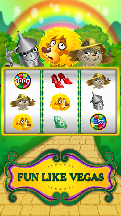 Oz Fun Slots of Wizard Land Free Play Game screenshot one