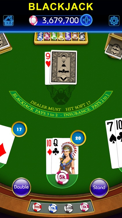 Blackjack-black jack 21 casino screenshot-4