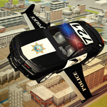 Flying Police car driver simulator 2016