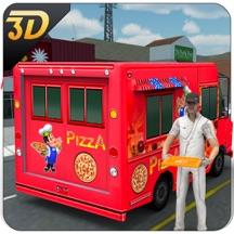 比萨送货车3D - 市食品卡车司机模拟器游戏