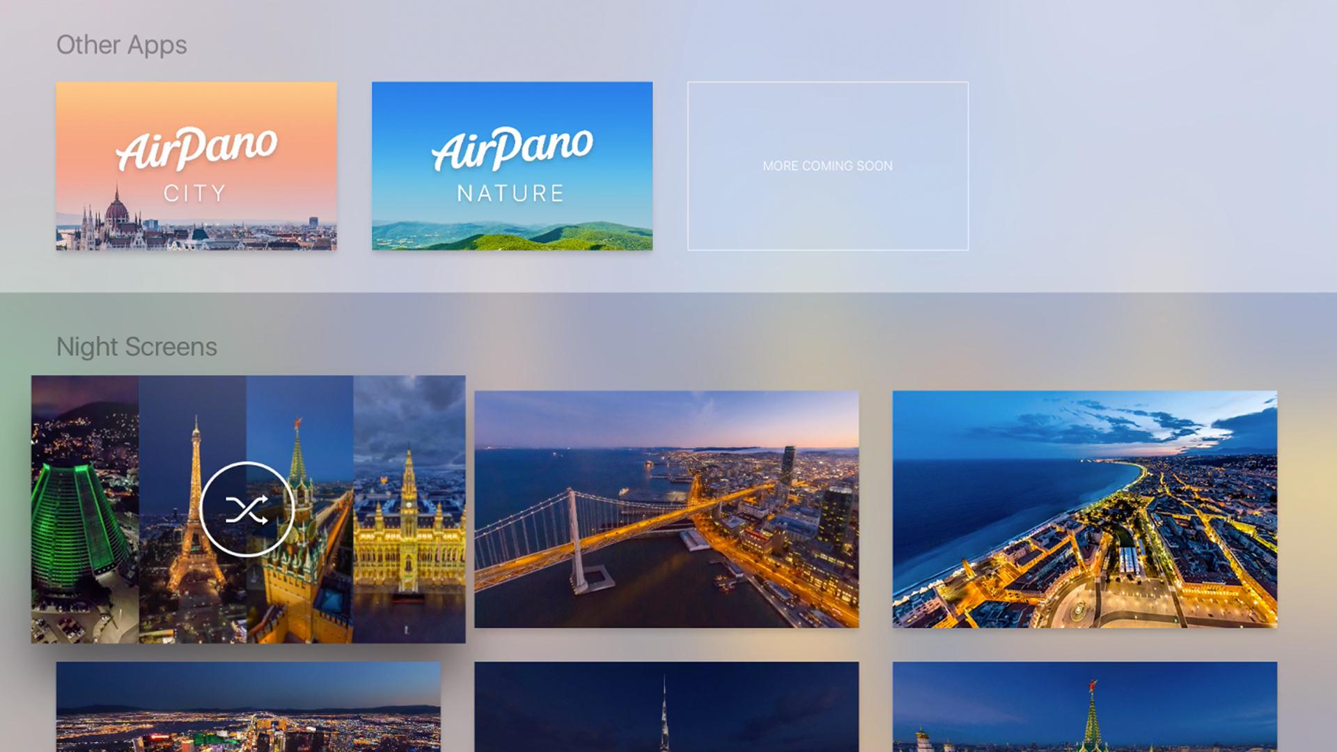 AirPano Night – Aerial Screensavers screenshot 1