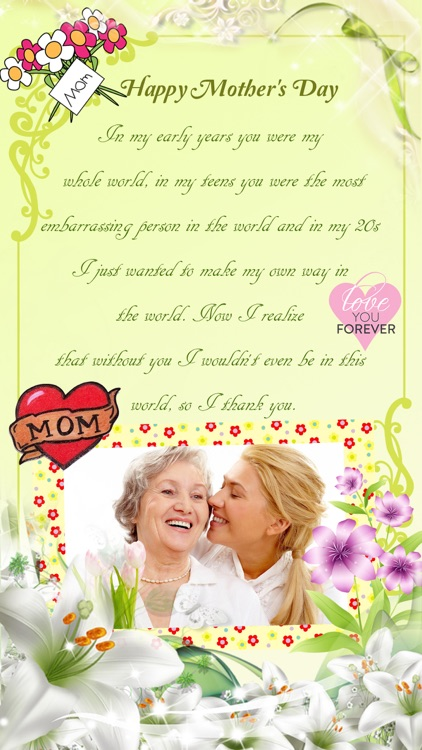 Mother's Day Photo Frame.s, Sticker.s & Greeting Card.s Make.r Pro