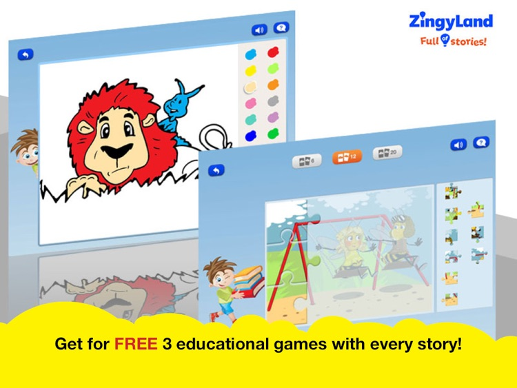 ZingyLand app - Safe Tales and Games for kids screenshot-4