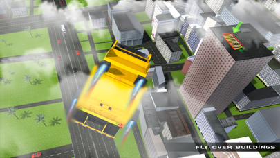 Real Garbage Truck Flying 3D Simulator – Driving Trash Trucker in City screenshot four