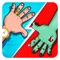 Red Reactor is simple 2 players game for kids base on the classic game of Slap Hands (also known as Hot Hands, Red Hands, Tap Hands, dual hands) with best scenario