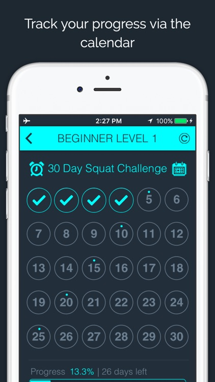 30 Day - Squat Challenge screenshot-1