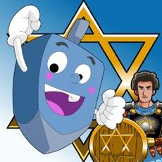 Activities of Hanukkah story, Hebrew songs music, Jewish holidays prayers trivia, kids Dreidel game Judaism